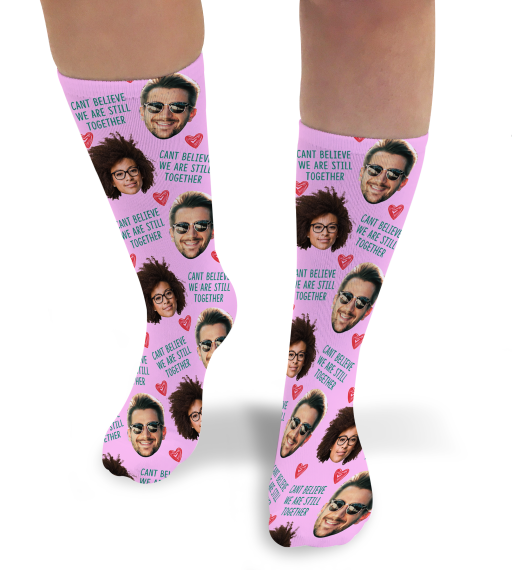 Can't Believe We're Still Together Valentines Day Personalised Socks