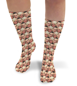 Face Mash Couples Personalised Photo Socks