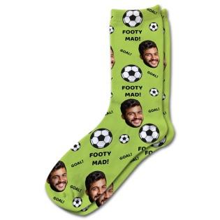 Footy Mad Personalised Photo Socks