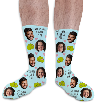 Great Pear Valentines Day Personalised Socks