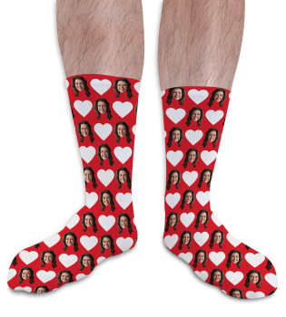 Valentines Day Personalised Socks Hearts 1