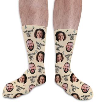 Honeymoon Vibes Personalised Photo Socks Wedding