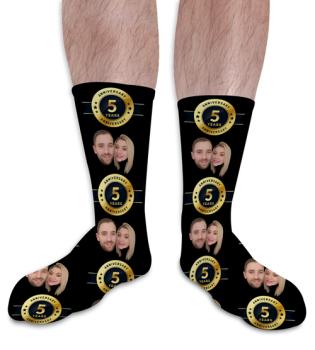 Wedding Anniversary Personalised Photo Socks