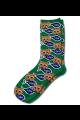 Personalised Pet Photo Socks Cat  Dark Green