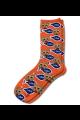 Personalised Pet Photo Socks Cat Dark Orange