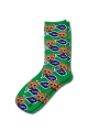 Personalised Pet Photo Socks Cat Green