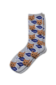 Personalised Pet Photo Socks Cat Grey