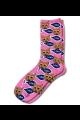 Personalised Pet Photo Socks Cat Light PInk