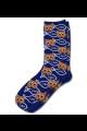 Personalised Pet Photo Socks Cat Navy Blue