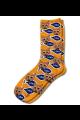 Personalised Pet Photo Socks Cat Orange