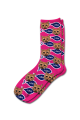 Personalised Pet Photo Socks Cat Pink