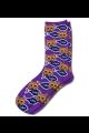 Personalised Pet Photo Socks Cat Purple