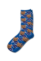 Personalised Pet Photo Socks Cat Royal Blue