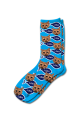 Personalised Pet Photo Socks Cat Sky Blue