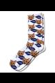 Personalised Pet Photo Socks Cat White