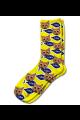 Personalised Pet Photo Socks Cat Yellow