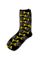 Personalised Pet Photo Socks Dog Black