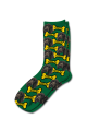 Personalised Pet Photo Socks Dog Green