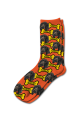 Personalised Pet Photo Socks Dog Dark Orange
