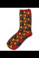 Personalised Pet Photo Socks Dog Dark Red