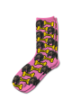 Personalised Pet Photo Socks Dog Light Pink