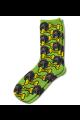 Personalised Pet Photo Socks Dog Lime Green