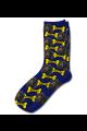 Personalised Pet Photo Socks Dog Navy Blue