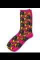 Personalised Pet Photo Socks Dog PInk