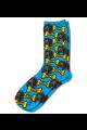 Personalised Pet Photo Socks Dog Sky Blue
