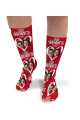 Valentines Day Personalised Socks Happy Valentines Day