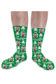 St Patricks Day Personalised Photo Socks I'm Not A Leprechaun