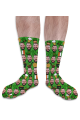 St Patricks Day Personalised Photo Socks