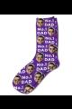 Photo & Message Personalised Photo Socks Purple