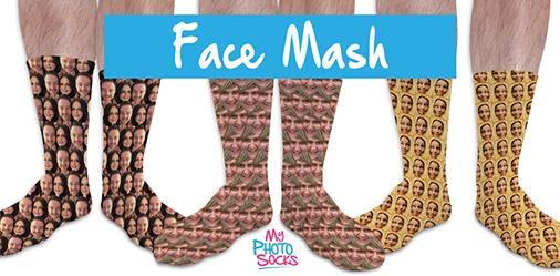 Personalised Face Mash Photo Socks