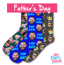 Personalised Fathers Day Socks